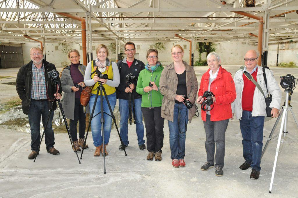Die Teilnehmer des Fotoworkshops im KuBAaI-Quartier - Foto: Bruno Wansing, bocholt.de
